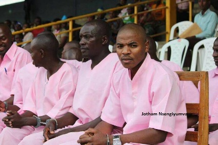 Umugororwa Jotham Nsengiyumva (uriya w'inzobe). Imana imuhe iruhuka ridashira