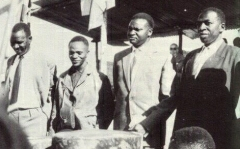 Kayuku-Kayibanda-Mbonyumutwa-Bicamumpaka au Congrès de Gitarama du 28 janvier 1961.
