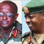 L-R: Lt. Gen. Fred Ibingira, Brig. Gen. Richard Rutatina, Brig. Gen. Wilson Gumisiriza, Col. Dan Munyuza.